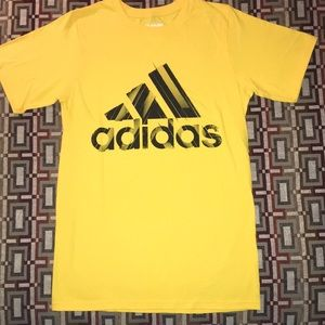 Men's Adidas Yellow T-shirt Size Small